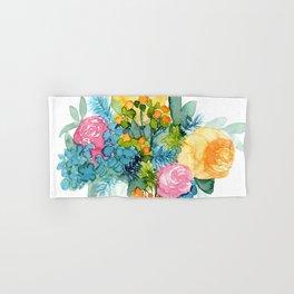 Colorful Watercolor Bouquet Hand & Bath Towel