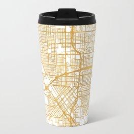 FRESNO CALIFORNIA CITY STREET MAP ART Travel Mug
