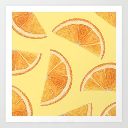 Orange Slice Delight Art Print
