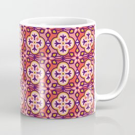 Moroccan Tile Pattern in Pink Coffee Mug
