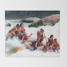 Rafting the Youghiogheny Throw Blanket