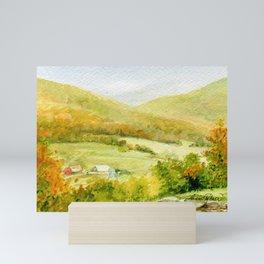 Autumn Fall on a Vermont Town Mini Art Print