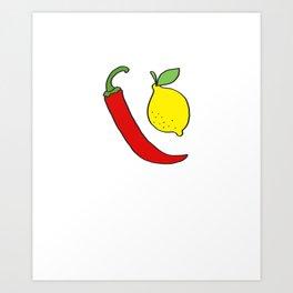 Pepper and Lemon Art Print