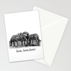 Three Zebras Stationery Cards
