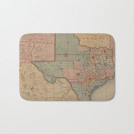 Houston Post map of the great Southwest (1880) Bath Mat