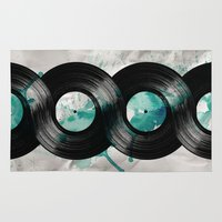 vinyl Area & Throw Rugs featuring infinite vinyl by Vin Zzep