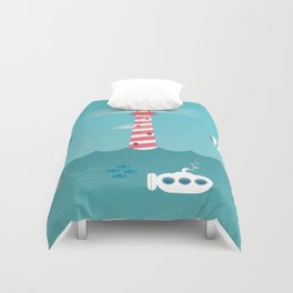 Beside the Seaside Duvet Cover