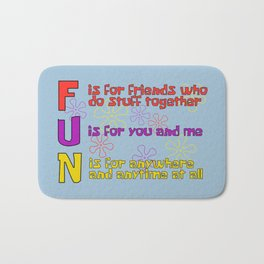FUN Quotes Bath Mat