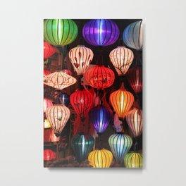 colorful paper lanterns Metal Print