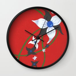 One of Two: Flower Duo Right Wall Clock