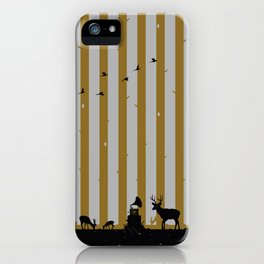 Gold Deer Song iPhone Case