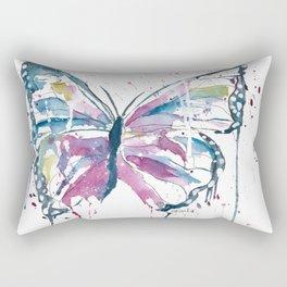 Vibrant Butterfly Rectangular Pillow