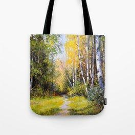 Birch Grove # 3 Tote Bag