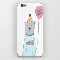 greg guillemin iPhone & iPod Skins featuring Birthday Greg by Amber Serene