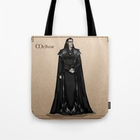 valar morghulis Tote Bags featuring Melkor by wolfanita