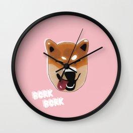 Bork Bork - Shiba Inu Wall Clock