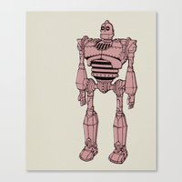 iron giant Canvas Prints featuring Iron Giant by Luke Spicer