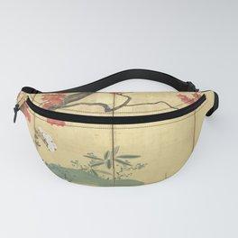 Maple Tree Japanese Edo Period Six-Panel Gold Leaf Screen Fanny Pack
