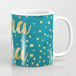 Pura Vida Gold on Teal Coffee Mug