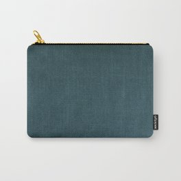 Slate Grey Velvet Texture Carry-All Pouch