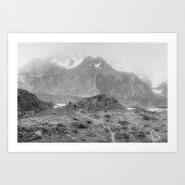 Patagonia Mountain Walk Art Print