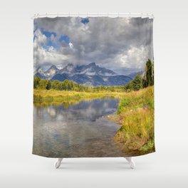 The Grand Tetons Panorama Shower Curtain