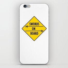 Swords On Board iPhone Skin