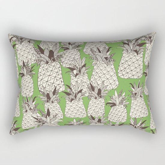 pineapple palm green Rectangular Pillow