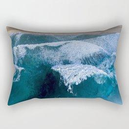 The waves at Banzai Pipeline - Oahu, Hawaii Rectangular Pillow