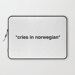 Cries in norwegian Laptop Sleeve