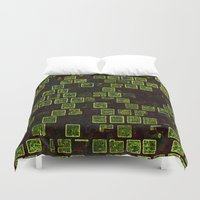 sonic Duvet Covers featuring Sonic Tiles by CirnitskiDesign