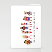 Stationery Cards featuring We Are All Wonderwomen! by SatrunTwins