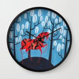 Smug red horse Wall Clock