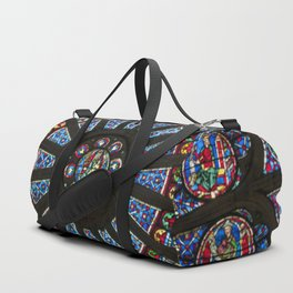 STAINED GLASS Notre Dame Cathedral Paris France Duffle Bag