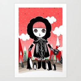 Eskimo Girl, I love you. Art Print