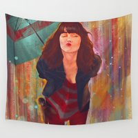 kiss Wall Tapestries featuring Kiss by Alexis Alcázar Calzada