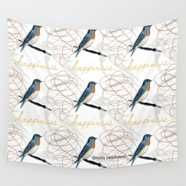 Bluebird of Happiness Wall Tapestry