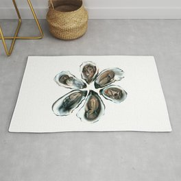 Oysters on the Half Shell Rug