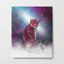 Space Leopard Metal Print