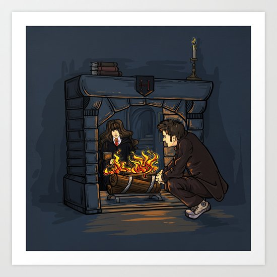 The Witch in the Fireplace Art Print