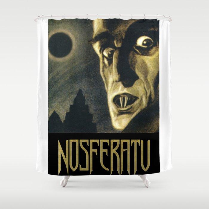 Nosferatu Vintage Horror Movie Poster Shower Curtain
