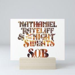 nathaniel rateliff & the night sweats sob tour 2019 2020 hajarlah Mini Art Print