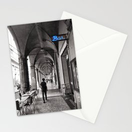Black and white Bologna Street Photography Stationery Cards