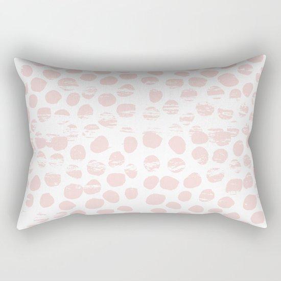 Textured polka dots dotted pattern decor minimal modern nursery baby gender neutral Rectangular Pillow