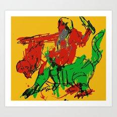 HE-MAN & BATTLE CAT  |  MASTERS OF THE UNIVERSE Art Print