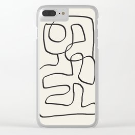 Abstract line art 15 Clear iPhone Case