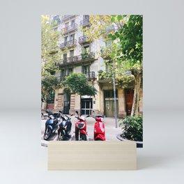 Barcelona scooters Mini Art Print