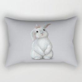 White Rabbit Girl Rectangular Pillow