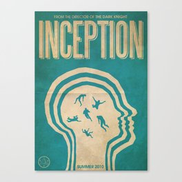 Inception Fan Art Poster Canvas Print