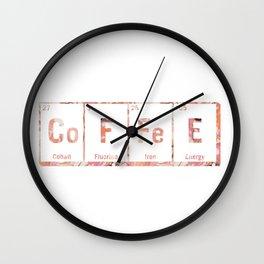 coffee periodic table Wall Clock